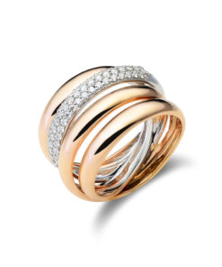 Croissé ring pink gold