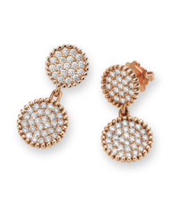 Diamond design perle earrings