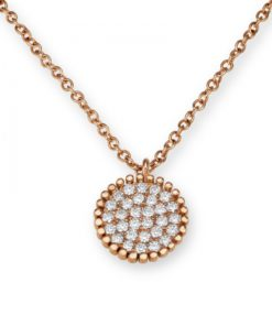 Diamond design perle pendant