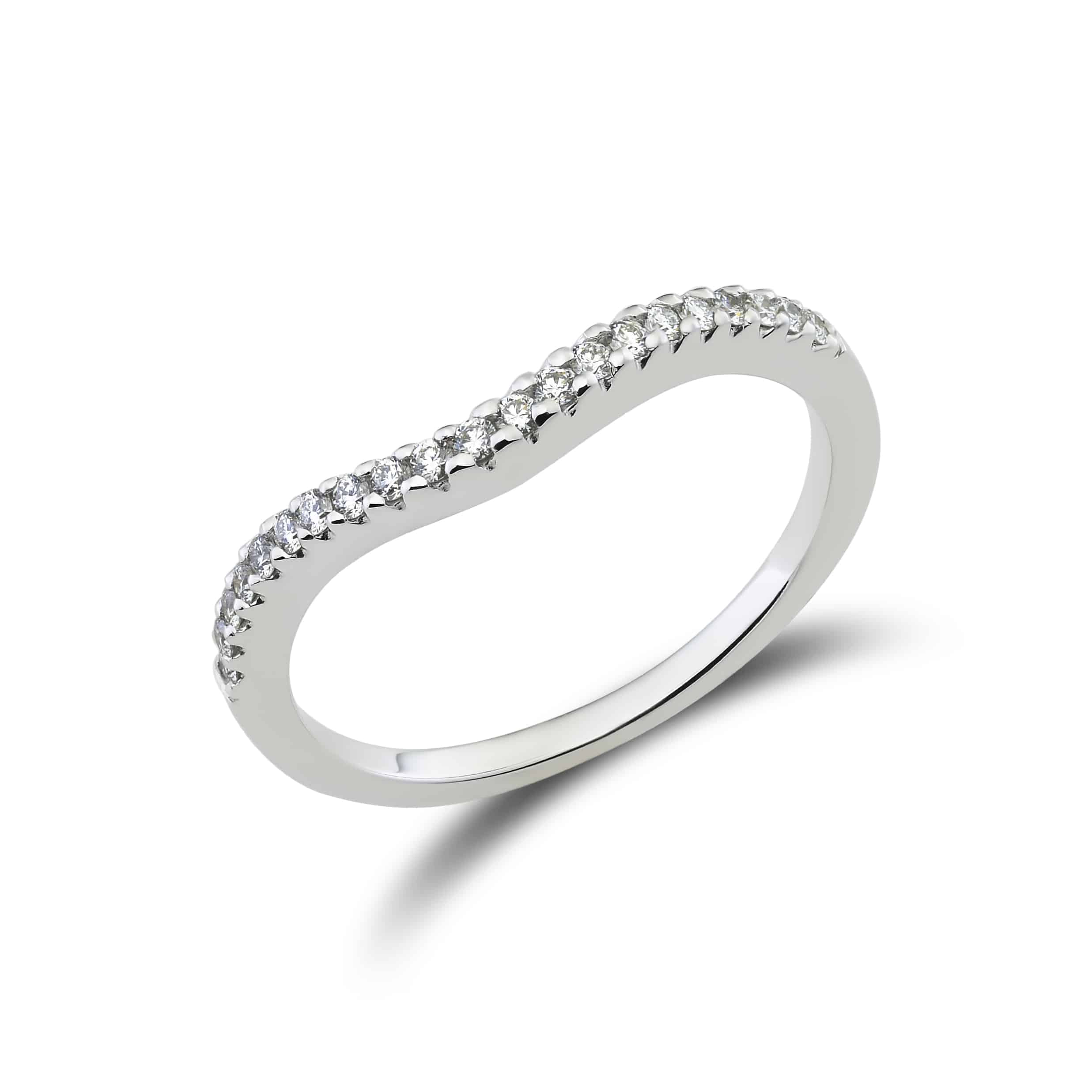 in mini diamond en diamonds wave with gold set small ring product orogem beautiful white rings