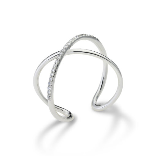 Thin croissé ring