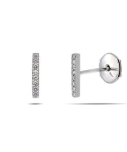Bar diamond studs earrings