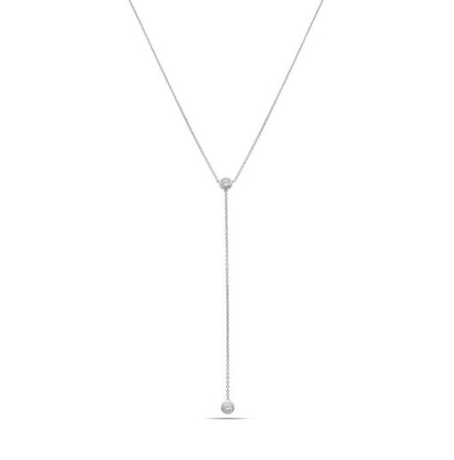 Double bezel diamond necklace