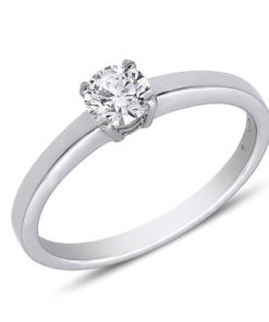 Flat edged diamond engagement ring