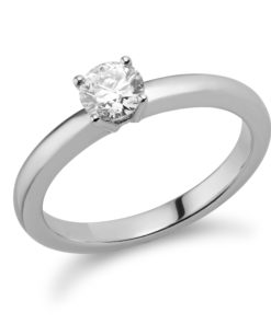 Low comfort Solitaire Diamond Engagement Ring