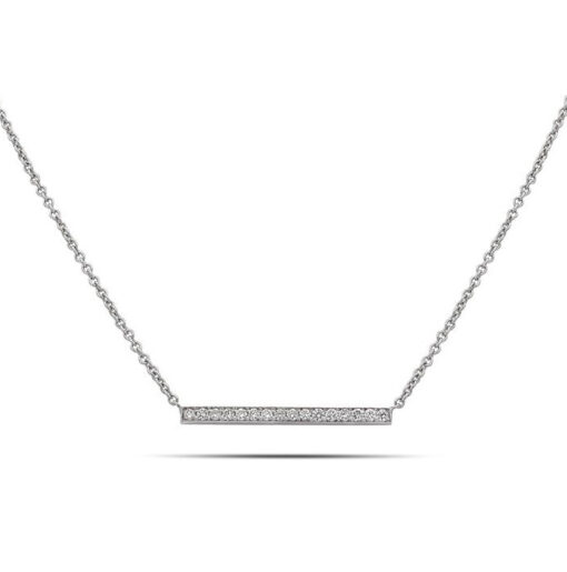 2 cm diamond line necklace