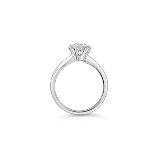 1 Carat six prong basket engagement ring