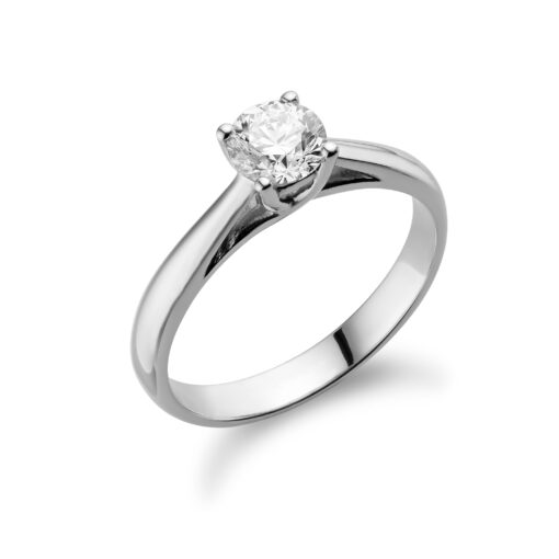 Diamanten twist solitaire verlovingsring