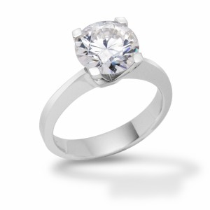 [en:]Square claw solitaire diamond engagement ring[/en][nl:]Diamanten solitaire verlovingsring[/nl]