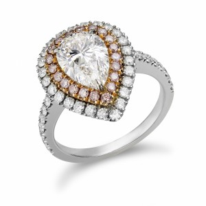 [en:]Tailor-made double halo engagement ring[/en][nl:]Handgemaakte dubbel halo verlovingsring[/nl]
