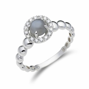 [en:]Halo diamond ring with moonstone[/en][nl:]Diamanten halo ring met maansteen[/nl]