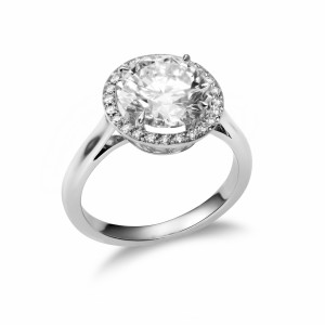 [en:]Micropavé Halo Diamond Engagement Ring[/en][nl:]Micropavé Halo verlovingsring[/nl]