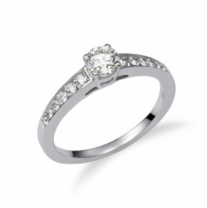 [en:]Low pavé diamond engagement ring[/en][nl:]Diamanten pavé verlovingsring[/nl]