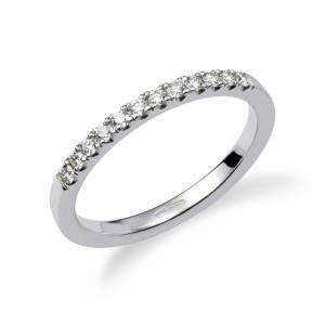 [en:]Open pavé diamond wedding ring[/en][nl:]Diamanten open pavé alliance[/nl]