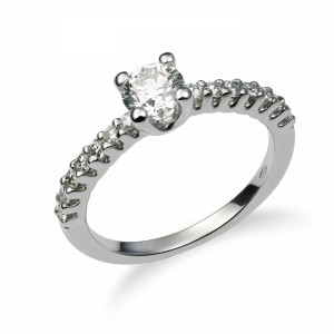 [en:]Small pavé diamond engagement ring[/en][nl:]Kleine diamanten pavé verlovingsring[/nl]
