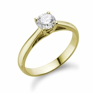 [en:]Twist Solitaire Diamond Engagement Ring[/en][nl:]Diamanten Solitaire Verlovingsring[/nl]