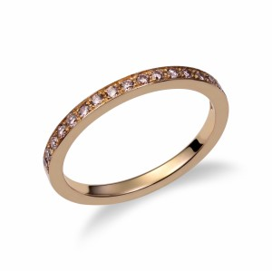 [en:]Pink diamond pavé weddingring[/en][nl:]Roze diamanten alliance trouwring[/nl]