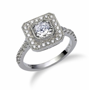 [en:]Cushion cut halo engagement ring[/en][nl:]Cushion halo ring[/nl]